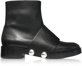 Alexander Wang Hanne Black Leather Ankle Boot