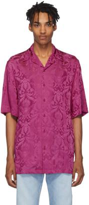 Versace Pink Damask Short Sleeve Shirt