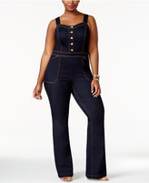 INC International Concepts Plus Size Denim Jumpsuit, Only at Macy's