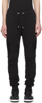 Balmain Black Ribbed Lounge Pants
