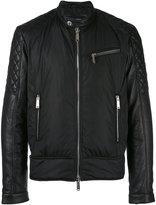 DSQUARED2 biker bomber jacket - men - Leather/Polyamide/Polyurethane/Feather - 48