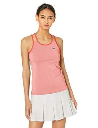 Lacoste Women's Stretch Technical Jersey Tennis Tank TOP