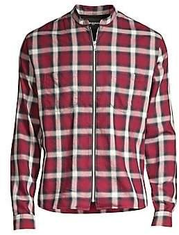 The Kooples Men's Plaid Zip-Front Shirt