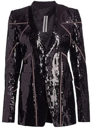 Rick Owens Naska Sequin Soft Blazer