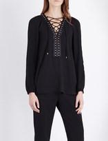 Altuzarra Yuba lace-up crepe blouse