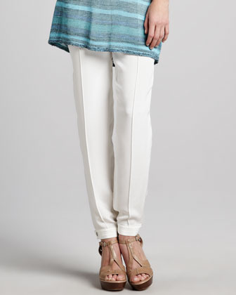 Magaschoni Skinny Silk Pants