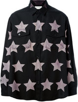 Saint Laurent star print oversized shirt