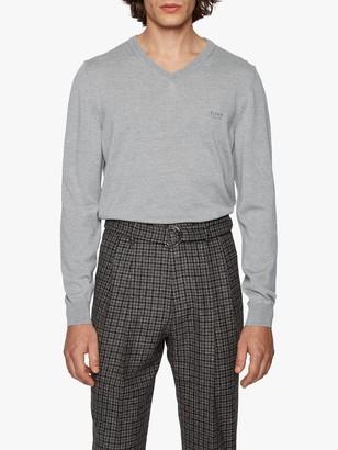 HUGO BOSS Baram V-Neck Wool Jumper