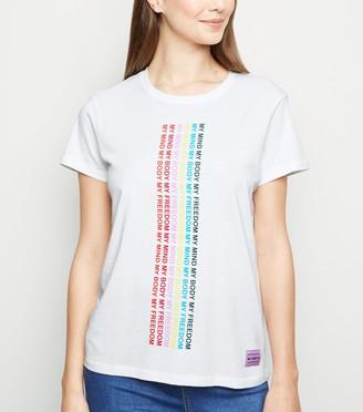 New Look Noisy May My Body Feminist Slogan T-Shirt