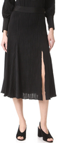 Prabal Gurung Jersey Pleated Skirt
