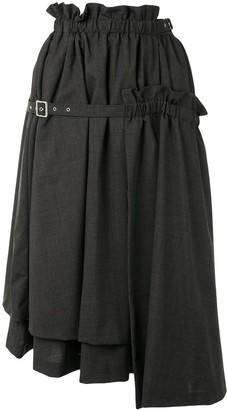 Comme des Garcons Belted Full-Shape Midi Skirt