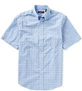 Roundtree & Yorke Travel Smart Big & Tall Short-Sleeve Check Sportshirt