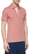 Billy Reid Pensacola Jersey Polo Shirt, Red