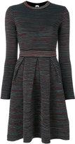 M Missoni striped pleated detail dress