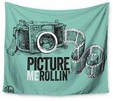 """KESS InHouse KESS Original """"Picture Me Rollin"""" Mint Wall Tapestry, 68"""" X 80"""""""""""