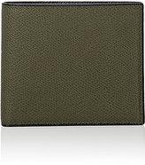 Valextra Men's Leather Billfold-DARK GREEN