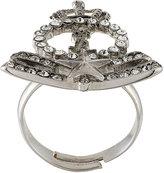 Saint Laurent embellished crown ring
