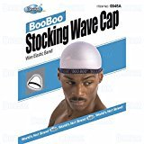 Dream Dream, Boo Boo STOCKING WAVE CAP, Wire Eastic Band (Item #045 White)
