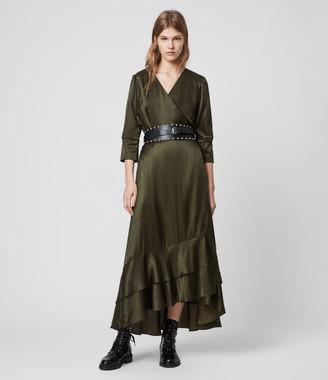 AllSaints Tage Silk Blend Satin Dress