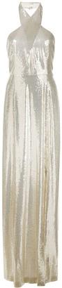 Galvan sequin embroidered evening dress