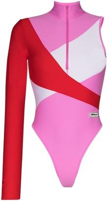 adidas x Lotta Volkova one sleeve swimsuit