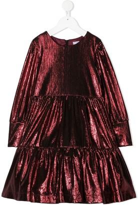 Piccola Ludo Metallic Flared Dress