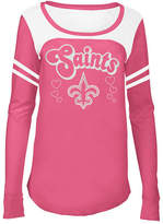 5th & Ocean New Orleans Saints Pink Slub Long Sleeve T-Shirt, Girls (4-16)
