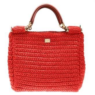 Dolce & Gabbana Sicily Orange Cloth Handbags