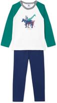 Petit Bateau Boys pajamas with motif