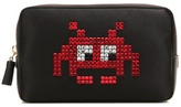 Anya Hindmarch Space Invaders Embellished Satin Pouch