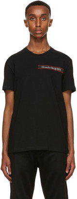 Alexander McQueen Black Logo Applique T-Shirt