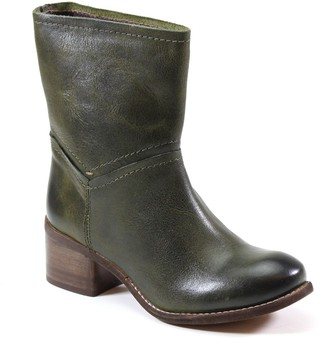Diba True Chunky Heel Leather Western Boots - Witch Way