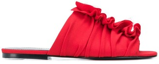 Proenza Schouler Ruffle Trim Flat Sandals