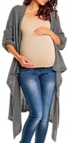 Happy Mama Boutique Happy Mama Womens Maternity Waterfall Cardigan Blazer Knit Coat Long Wrap 349p (, 8/12)