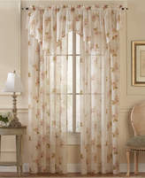"CHF CLOSEOUT! Sheer Waterlily Scroll 50"" x 6.5"" Ascot Valance"