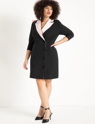 ELOQUII Blazer Dress With Oversized Bow