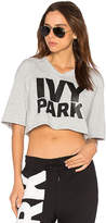 Ivy Park Logo V Neck Crop Tee