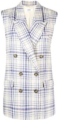 Etoile Isabel Marant Check-Print Sleeveless Jacket