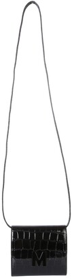 MSGM Logo Plaque Embossed Mini Crossbody Bag