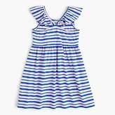 J.Crew Girls' flutter-sleeve dress in stripe