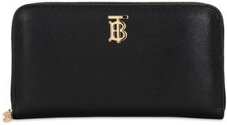 Burberry Elmor Grained Leather Zip Around Wallet