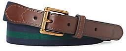 Polo Ralph Lauren Men's Stripe & Leather Belt