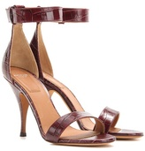 Givenchy Infinity embossed leather sandals