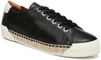 Franco Sarto Lace-Up Leather Jute Sneakers - Lessia