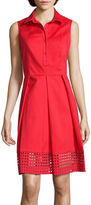 Liz Claiborne Sleeveless Eyelet Shirtdress