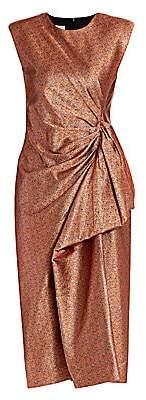 Dries Van Noten Women's Lurex Drape Sheath Dress