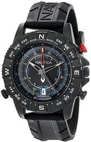 Nautica Men's NAD21001G NSR 103 TIDE TEMP COMPASS Watch with Black Band