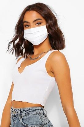 boohoo Pleated Cotton Fashion Face Mask
