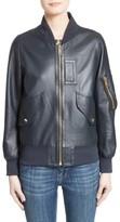 Burberry Women's Penhale Leather Jacket