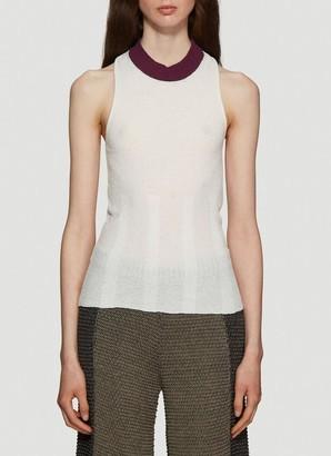 Eckhaus Latta Open Back Knitted Sleeveless Top